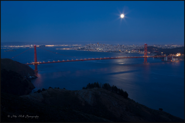 Evening image of the Golden Gate Bridge