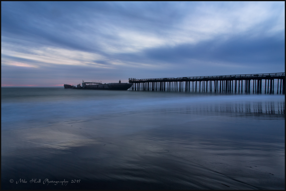 USS Palo Alto at Twilight,  Seacliff State Beach