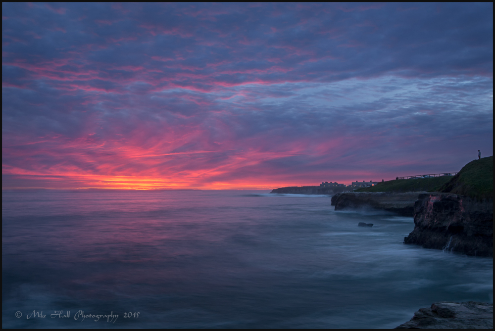 Winter Sunset View of the Pacific Ocean