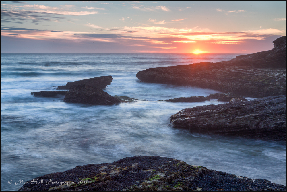 Sunset view from Panther Beach, Davenport, CA