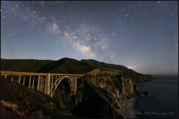 Milky Way over Bixby Bridge, Big Sur, CA