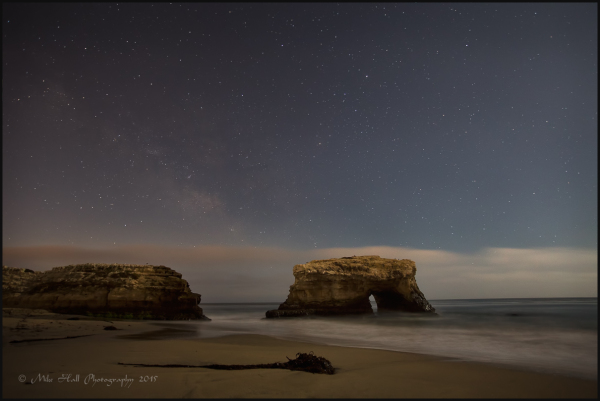 Milky Way over Natural Bridges State Beach