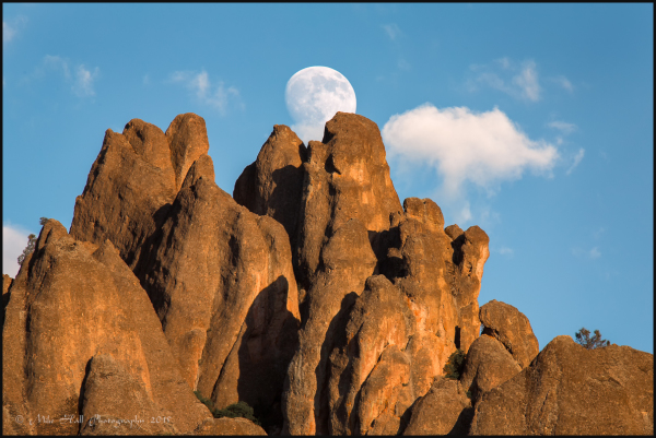 High Peaks Moonrise, Pinnacles National Park