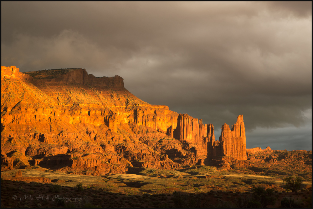 Late light on Fisher Towers, Utah
