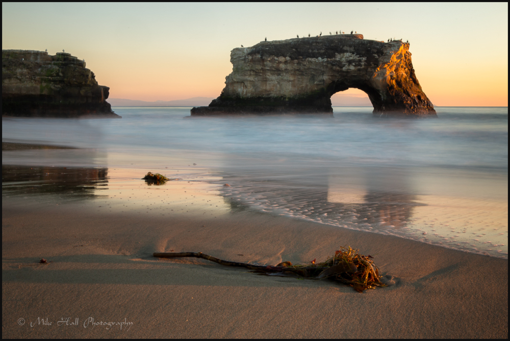 Late Light on Natural Bridges State Beach