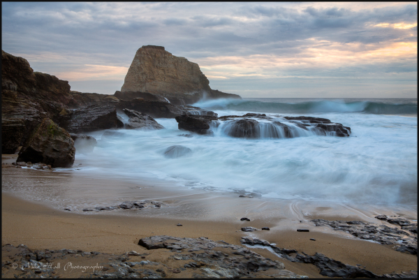 Panther Beach Winter Sunset, Monterey Bay, CA