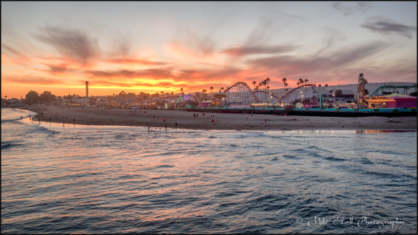 Santa Cruz Beach Boardwalk post Sunset