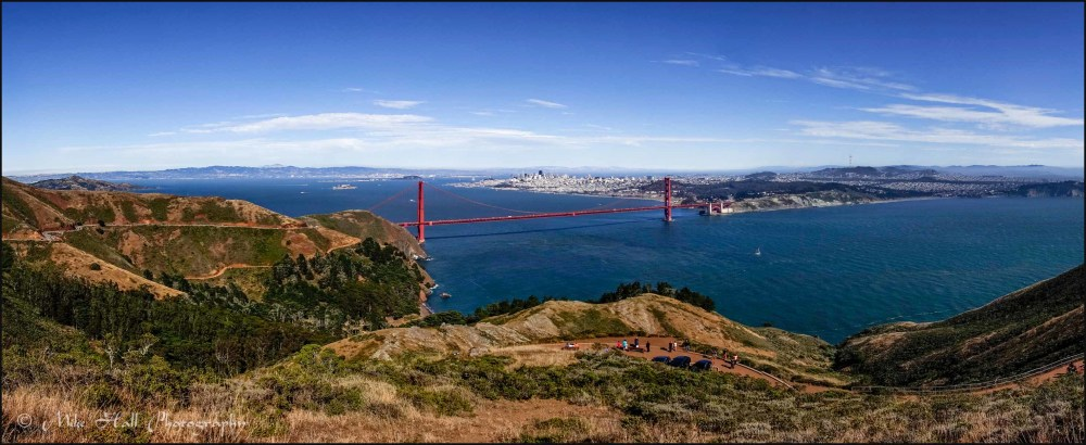 View of Golden Gate Bridge and San Francisco