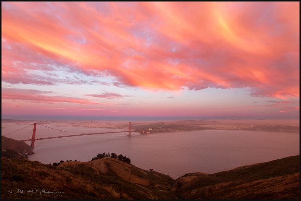 Golden Gate Bridge and San Francisco Sunset