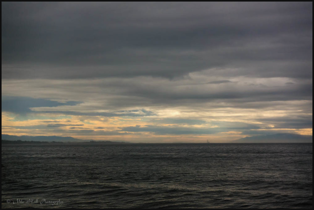 Approaching storm over Monterey Bay