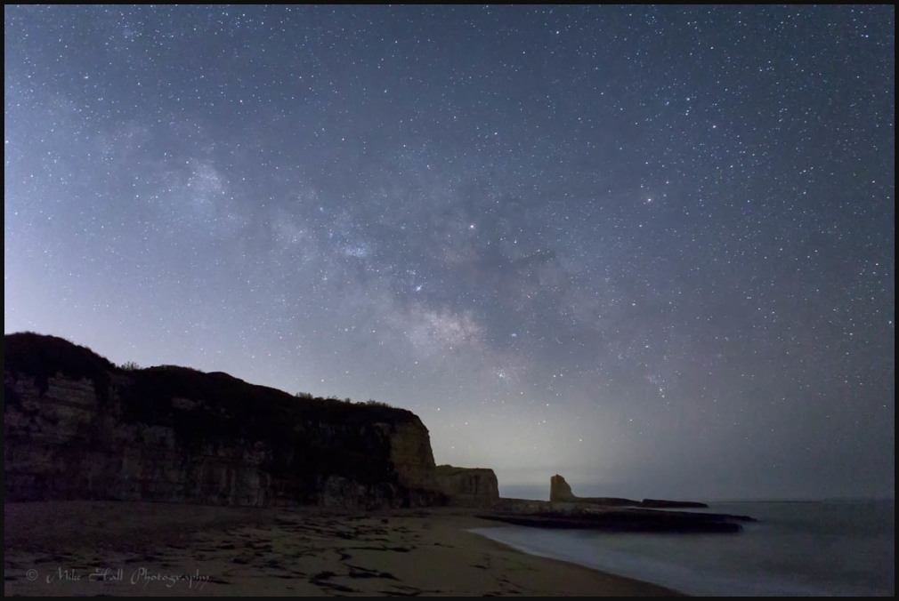 Milky Way over the California Coast