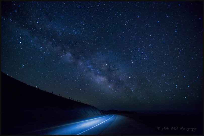 Milky Way over the road along the Big Sur Coast