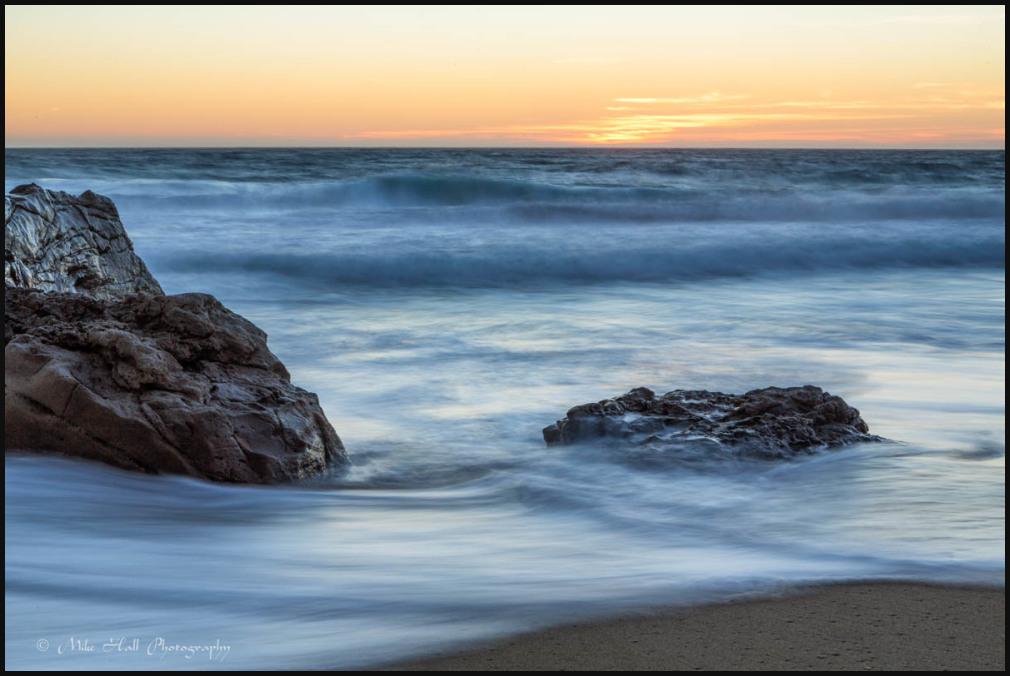 Sunset along the Big Sur Coastline