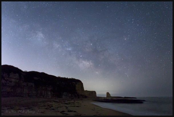 Milky Way over a sea stack by the California Coast