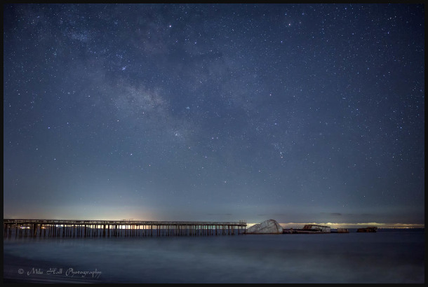 Milky Way over the SS Palo Alto, Monterey Bay, CA