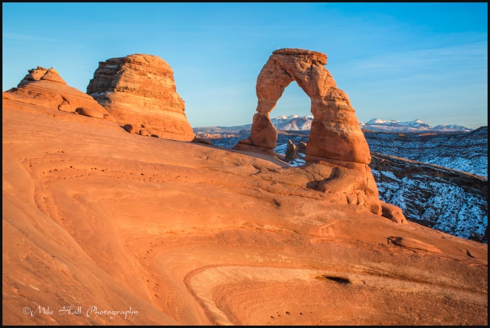 Late light on Delicate Arch, Arches National Park