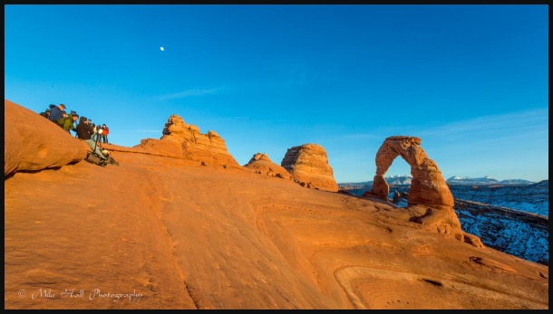 Late light at Delicate Arch in Arches Nat. Park