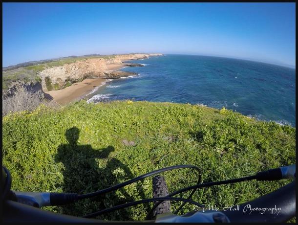 Mountain biking along the California Coast