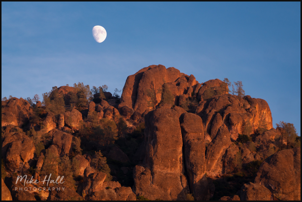 Moonrise over the High Peaks of Pinnacles NP