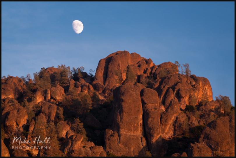 Moonrise over the High Peaks of Pinnacles NP