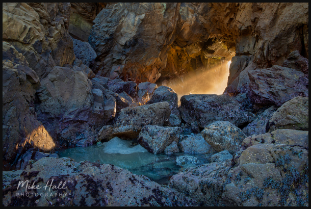 Golden light at Pfeiffer Beach, Big Sur, CA
