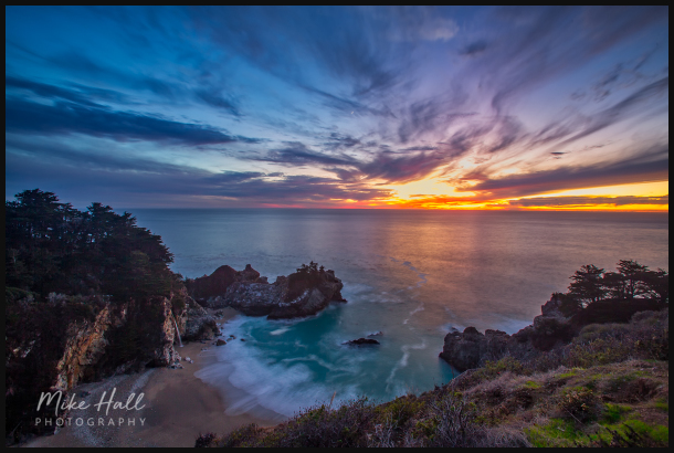 Sunset at Julia Pfeiffer Burns State Park
