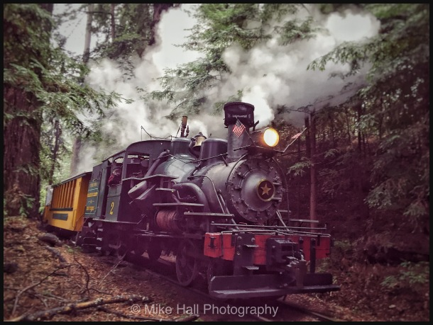 Roaring Camp Railroad in the Santa Cruz Mountains