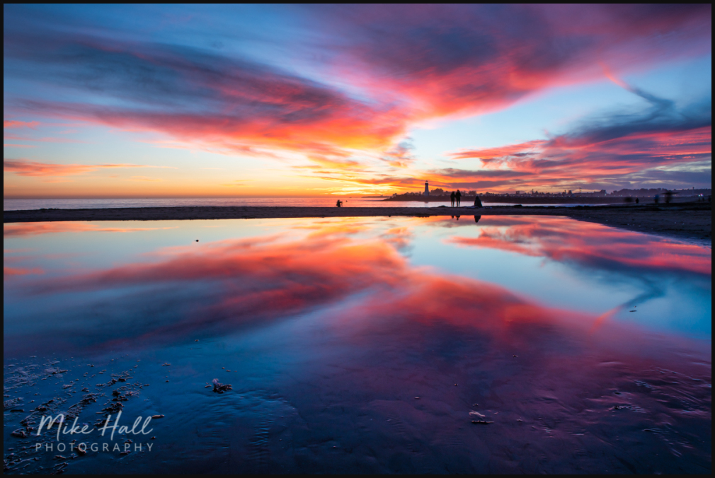Winter sky reflection  in Santa Cruz, CA