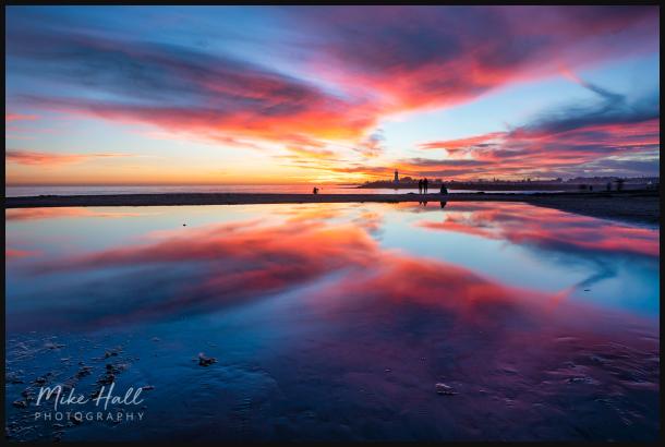 Winter sky reflection  in Santa Cruz, CA