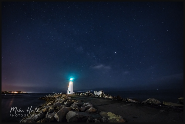 Walton Lighthouse under the Milky Way