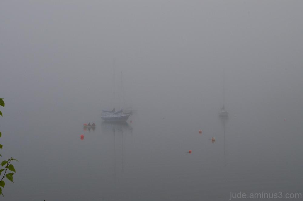 A foggy morning in Chester, NS