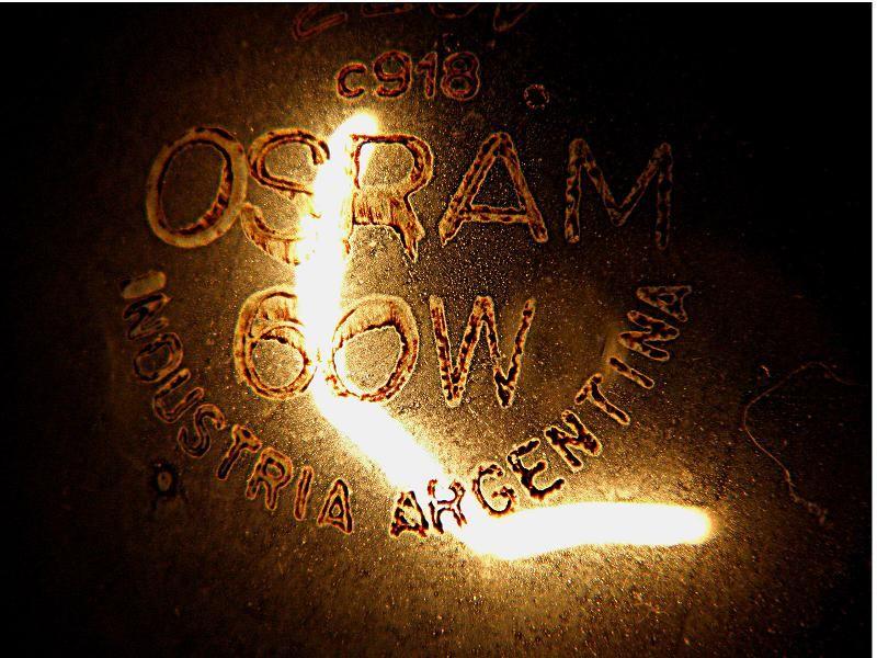 OSRAM 60 W INDUSTRIA ARGENTINA