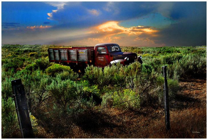 Old Farm Truck landscape