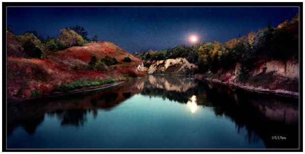 Cottonwood Canyon by Moonlight