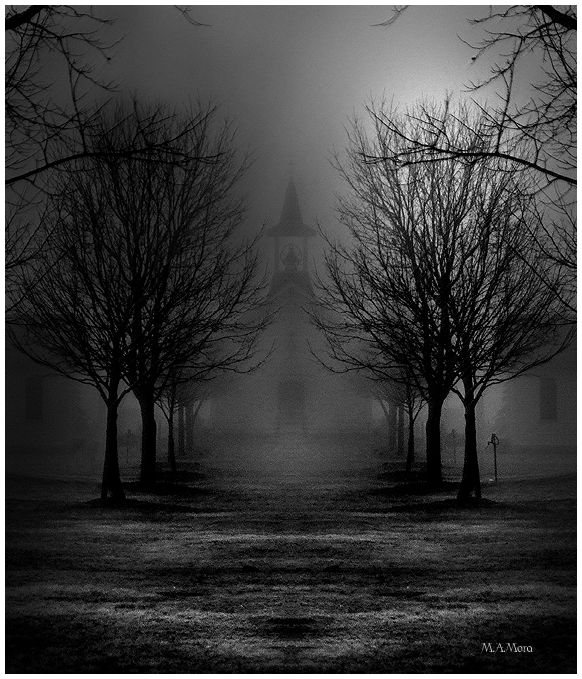 Old Church in the fog