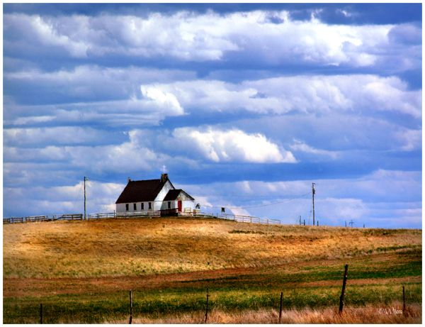 Old Church on The Reservation, South Dakota