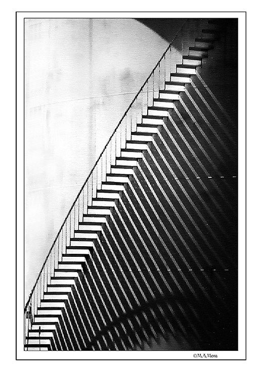 Abstract shot of some stairs