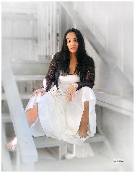Lady in White Portrait