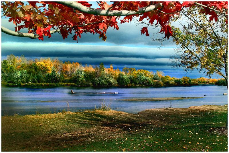 The Platte River near Cody park
