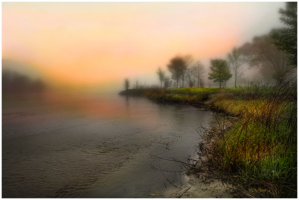 early Foggy Morning at the river