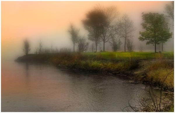 Misty Morning on the Platte River