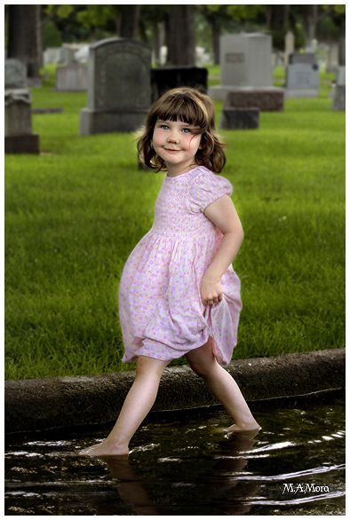 Little Girl in The Cemetery