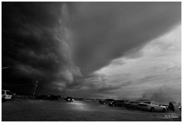 Summer storm halts the Powwow