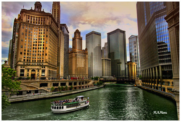 Chicago Skyline from the Chicago River