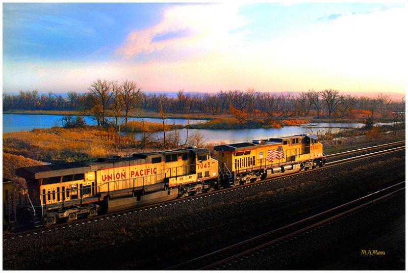 U P railroad