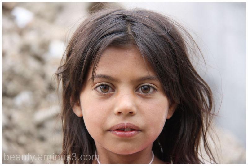 young Roma girl in Albania