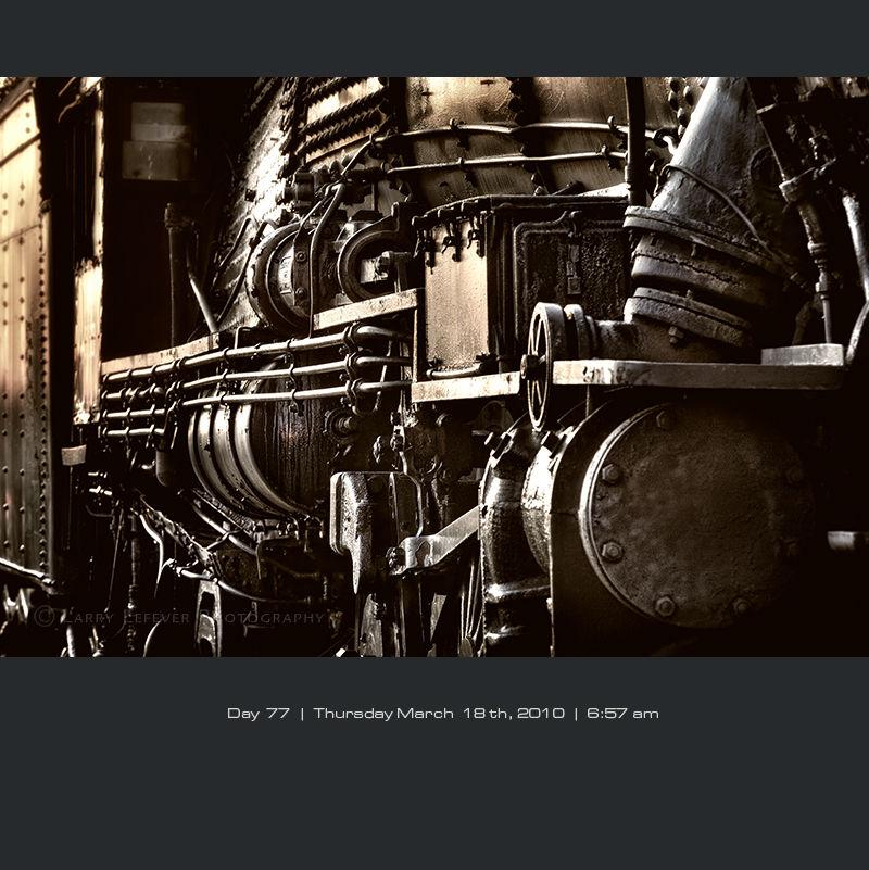 Locomotive detail at dawn
