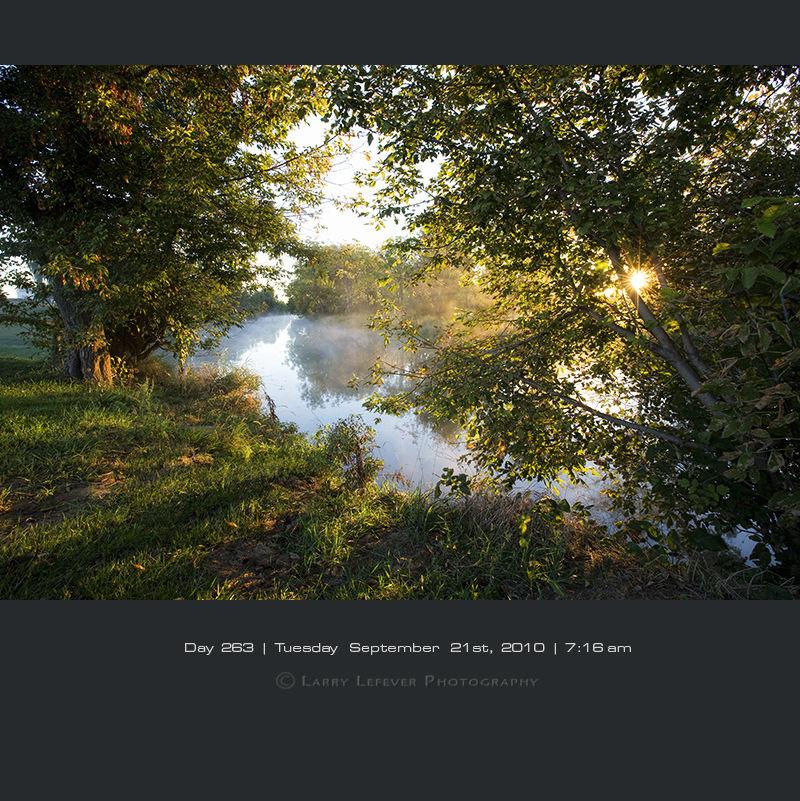 Sunrise along creek