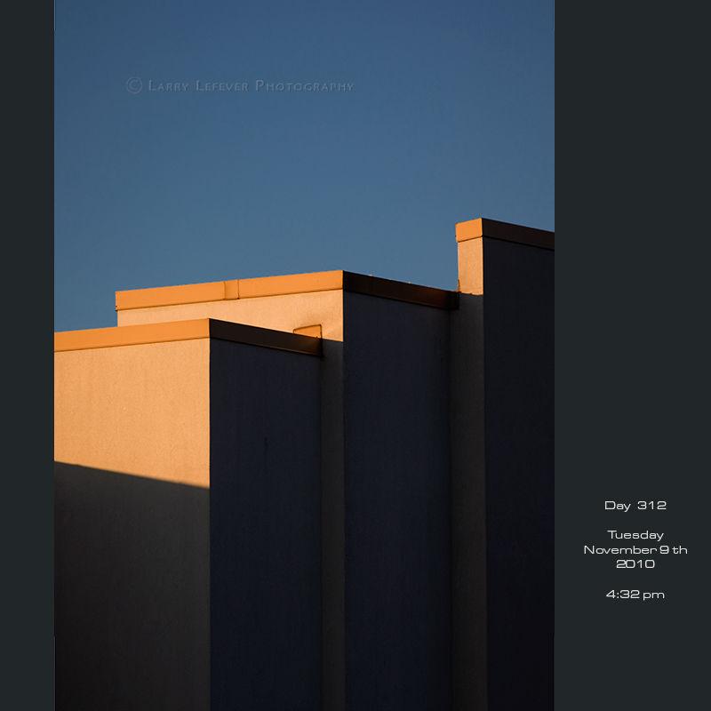 Roofline against blue sky