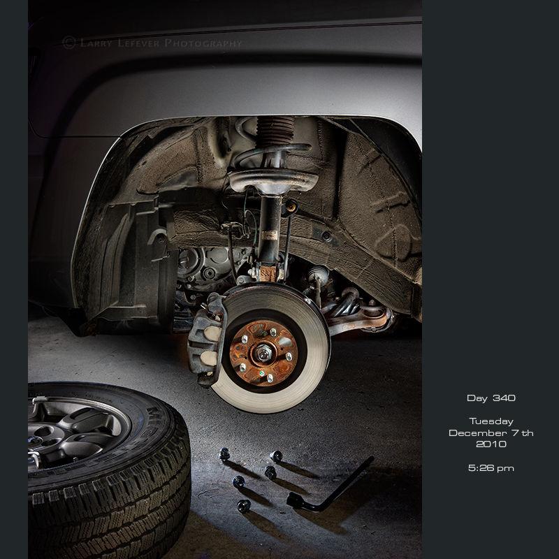 Brake assembly on truck